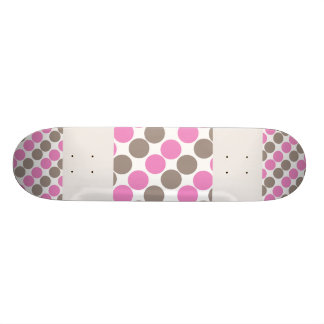 Brown And Pink Dots Skate Deck