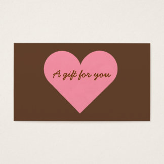 Brown and Pink Heart Gift Tags