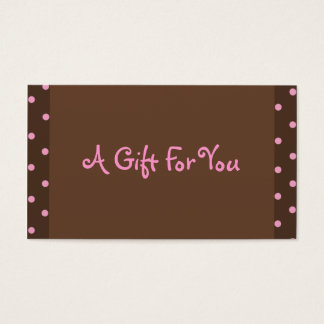 Brown and Pink Polka Dot Gift Tags