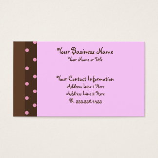 Brown and Pink Polka Dot Standard Business Cards