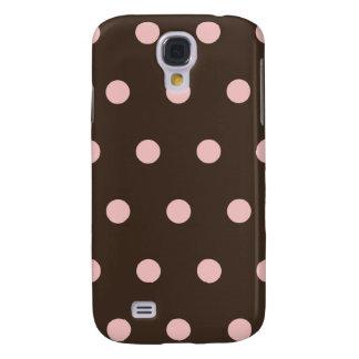 Brown and Pink Polka Dots  Samsung Galaxy S4 Cover