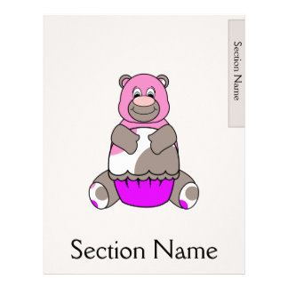 Brown And Pink Polkadot Bear Letterhead
