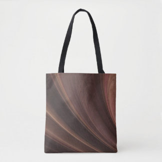 Brown And pink Soft Sand Waves Tote Bag