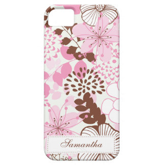 Brown and Pink Spring Garden iPhone 5 Covers