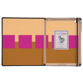 Brown and Pink Squares iPad Folio Cases