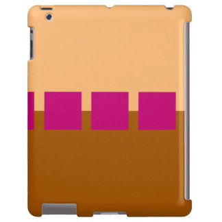 Brown and Pink Squares iPad Case