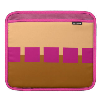 Brown and Pink Squares Sleeve For iPads