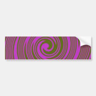 Brown and Pink Swirls Bumper Sticker