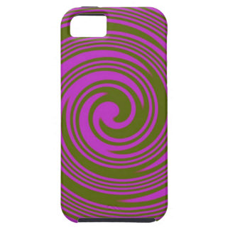 Brown and Pink Swirls iPhone 5 Cover