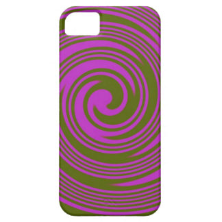 Brown and Pink Swirls iPhone 5 Covers