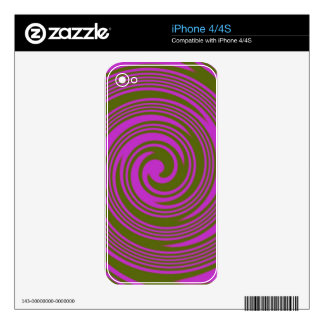 Brown and Pink Swirls Decal For iPhone 4