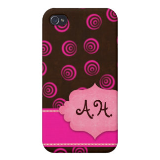 Brown and Pink Swirly Girly Case
