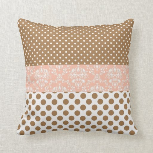brown and pink throw pillow zazzle. Black Bedroom Furniture Sets. Home Design Ideas