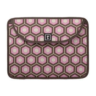 Brown and Pink Tiled Hex MacBook Sleeve Sleeves For MacBooks