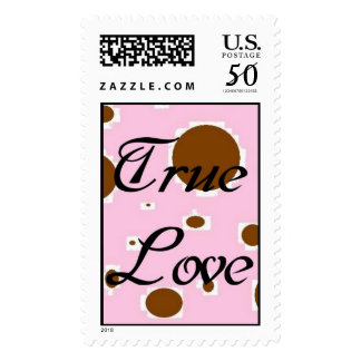 Brown and Pink True Love Stamp