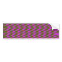Brown and Pink Wave Pattern Bumper Sticker