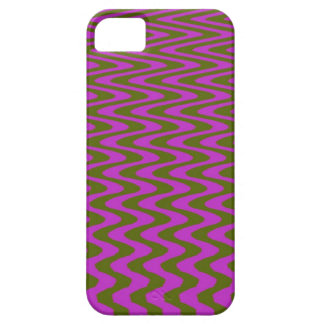 Brown and Pink Wave Pattern iPhone 5 Cover