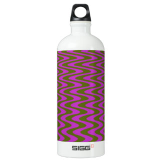Brown and Pink Wave Pattern Water Bottle