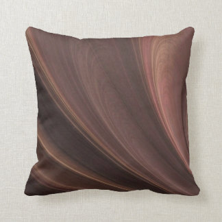 Brown And Pink Waves Throw Pillow