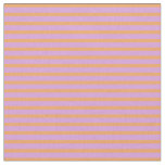 [ Thumbnail: Brown and Plum Colored Lined/Striped Pattern Fabric ]