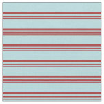 [ Thumbnail: Brown and Powder Blue Colored Lines Fabric ]