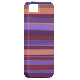 Brown and Purple Abstract Stripes Pattern iPhone SE/5/5s Case