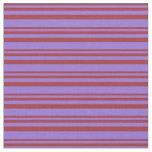 [ Thumbnail: Brown and Purple Colored Pattern of Stripes Fabric ]