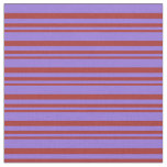 [ Thumbnail: Brown and Purple Striped/Lined Pattern Fabric ]