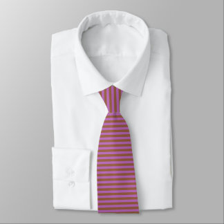 Brown and Purple Stripes Tie