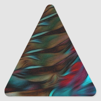 Brown And Red Abstract Triangle Sticker