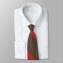Brown and Red Broad University Stripe Tie