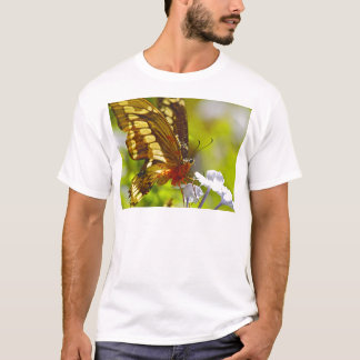 Brown and Red Butterfly Covered in Pollen T-Shirt