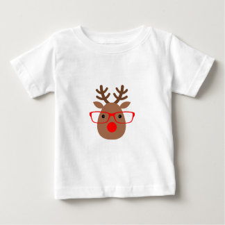 Brown and Red Hipster Reindeer T Shirts