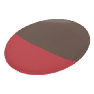 Brown and Red Split Plate