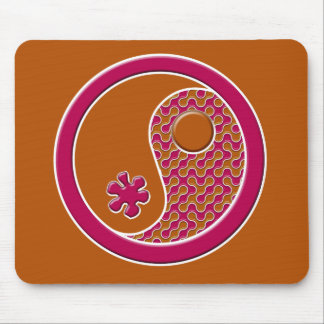 Brown and Rose in Balance Mouse Pad