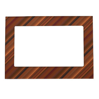 Brown and Rust Diagonal Stripe Magnetic Frame