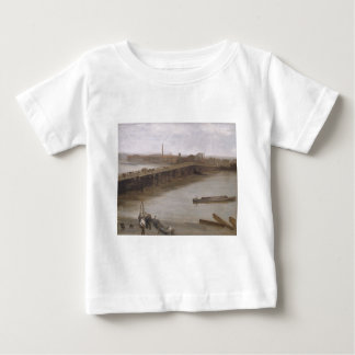 Brown and Silver: Old Battersea Bridge by James Baby T-Shirt