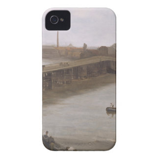 Brown and Silver: Old Battersea Bridge by James Case-Mate iPhone 4 Case
