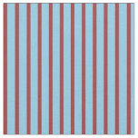 [ Thumbnail: Brown and Sky Blue Colored Lines/Stripes Pattern Fabric ]