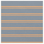 [ Thumbnail: Brown and Slate Gray Colored Lines Fabric ]