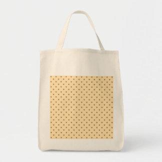 Brown and tan - beige heart pattern tote bag