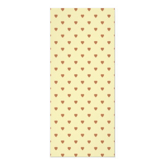 Brown and tan - beige heart pattern. card