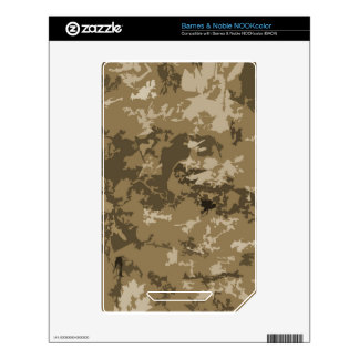 Brown and Tan Camouflage Nature Camo Pattern NOOK Color Skin