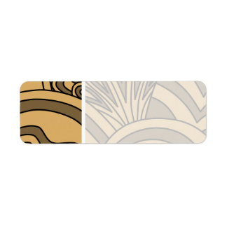Brown and Tan Color Art Deco Style Design. Label