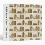 Brown and Tan Color Books on Shelf. Binder