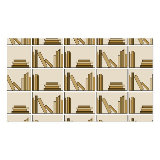 Brown and Tan Color Books on Shelf. Business Card