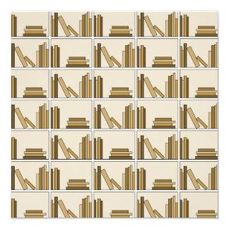 Brown and Tan Color Books on Shelf. Invite