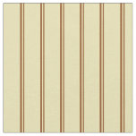 [ Thumbnail: Brown and Tan Colored Lined/Striped Pattern Fabric ]