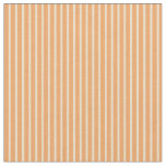 [ Thumbnail: Brown and Tan Colored Lines Pattern Fabric ]