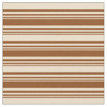 [ Thumbnail: Brown and Tan Colored Pattern of Stripes Fabric ]